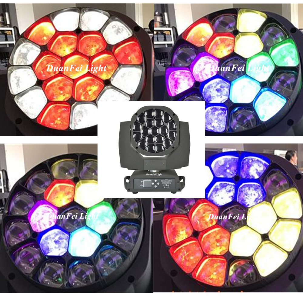19x15W rgbw 4in1 big bee moving head zoom wash beam
