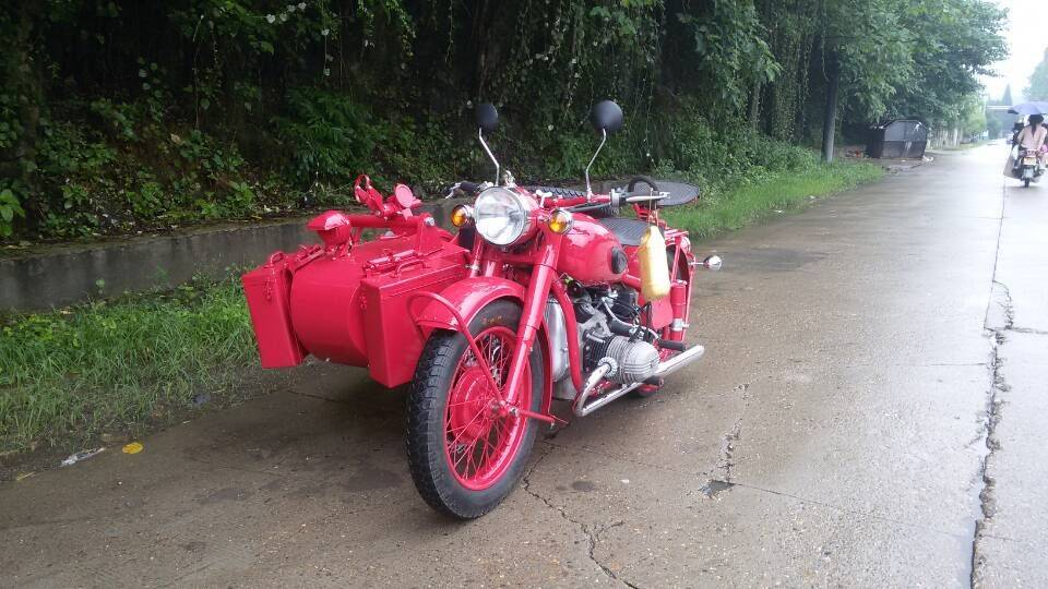 Red Color 750Cc Motorcycle Sidecar