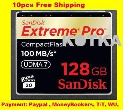 128 GB CF Memory Card SDCFXP-128G-X46