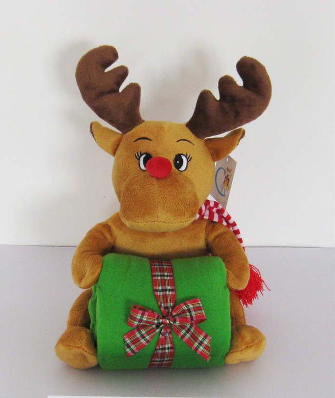 Animal Plush toys christmas deer plush toys  CZ-TC-04