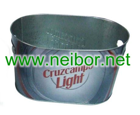 tin ice bucket, metal beer bucket, beer cooler, tin ice bucket,wine bucket