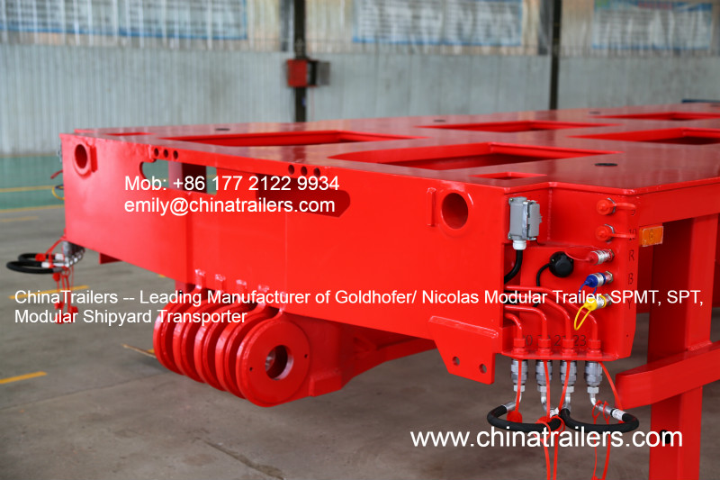Good Quality Goldhofer Type Hydraulic Modular Trailer THP/SL SYV-3 RED