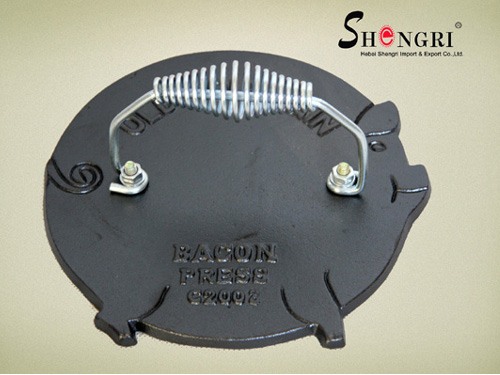 SR081 Pig Shape Cast Iron Meat Press With Metal Handle