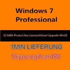 Windows 7 Professional 32/64 Bit OEM Key Lizenzschlüssel + Windows 10 Upgrade