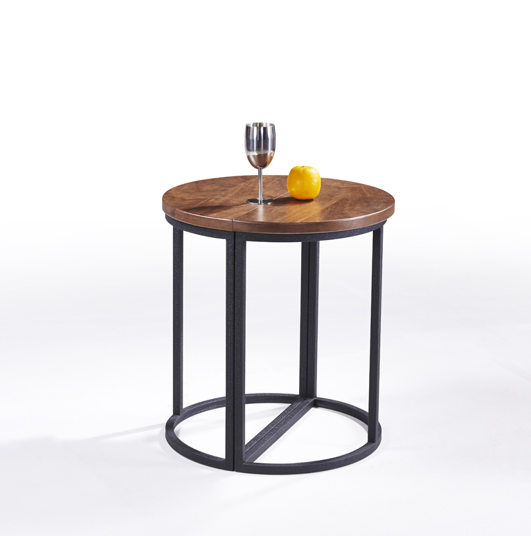 SHIMING FURNITURE MS-3363 modern design round(MDF) top antique side table (seperated)