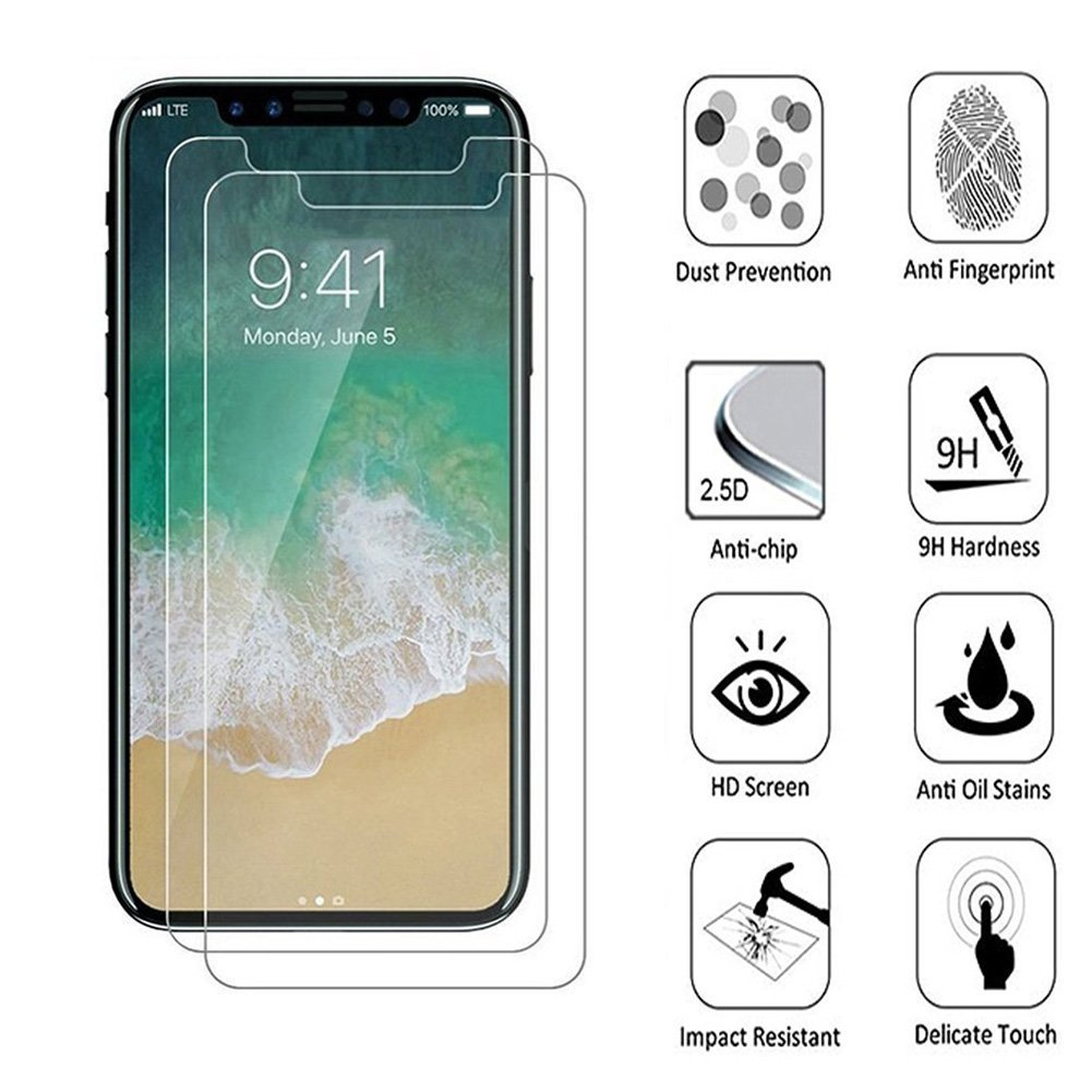 China Factory Wholesale Tempered Glass Screen Protector for iPhone X 10