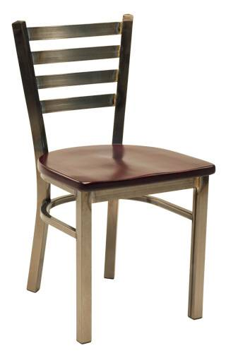 the clear coated metal chair restaurant chair dinning room chair