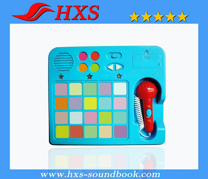2015 New Push Button Electronic Early Educational Sound Pad for Books