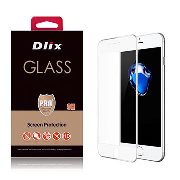 Dlix 3D Tempered Glass Screen Protector for iPhone 7/7 Plus