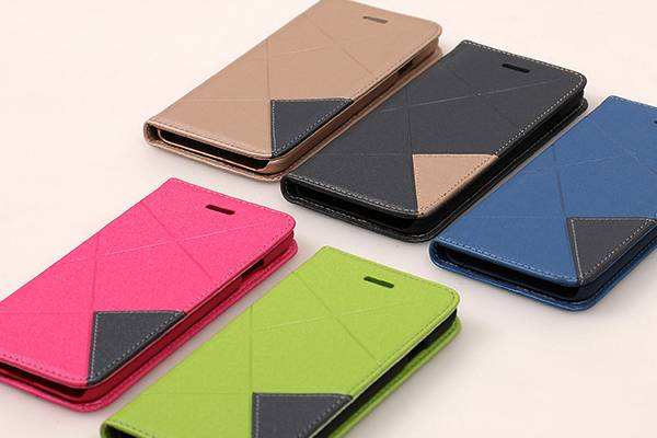 For iPhone 6 pu+pc Spell color Mobile Phone cover SC-IB-ID998
