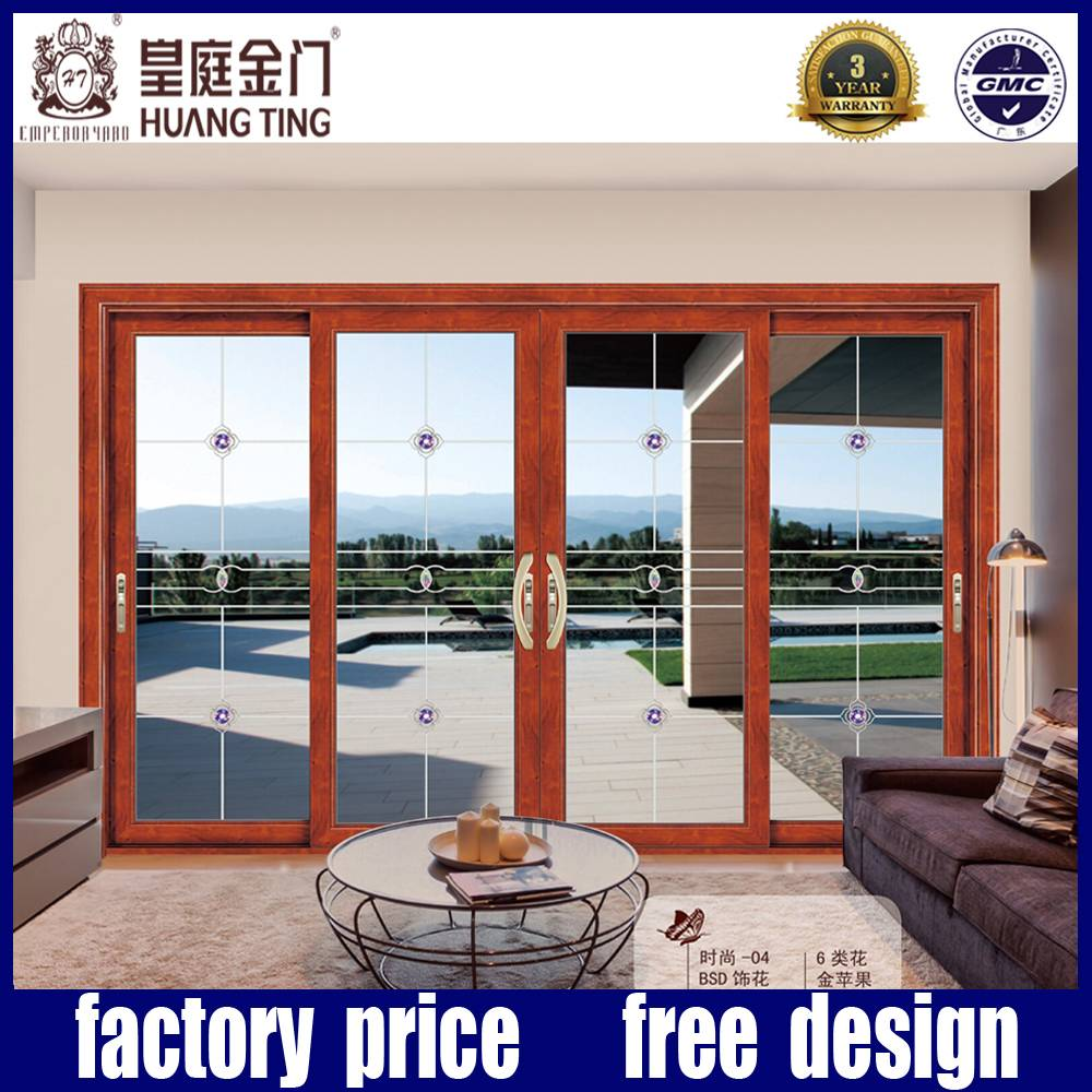 alumimun sliding glass kitchen door design