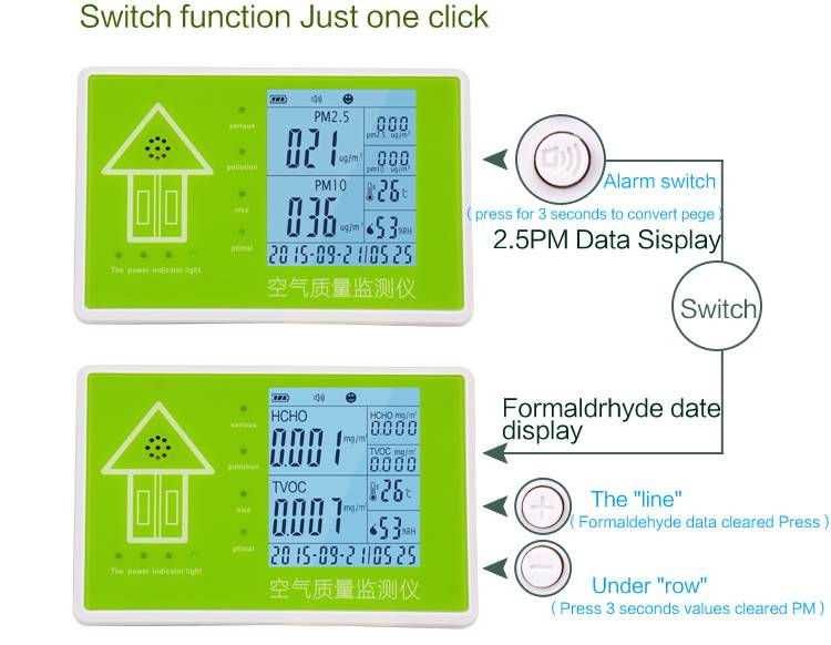High quality portable digital PM10 PM2.5 sensor