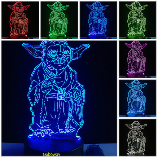 Star wars Master Yoda Led night Changing Touch Switch 3D Table Desk Lamp for Star wars fans