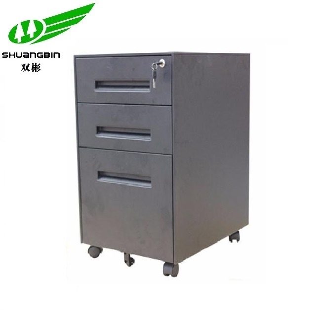 Luoyang office furniture mobile 3 drawer steel filing cabinet