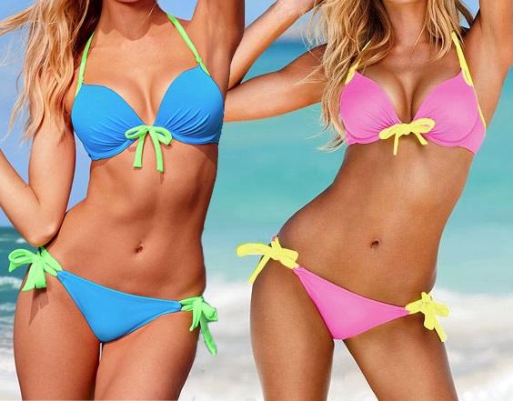 victoria beachwear Sexy Women Bikini Fashion Shining Bling Swimsuit Gift