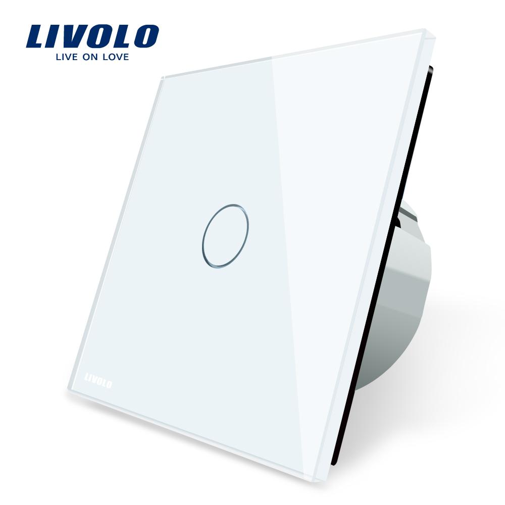 Livolo EU standard electricl touch wall light switch 1gang 1way
