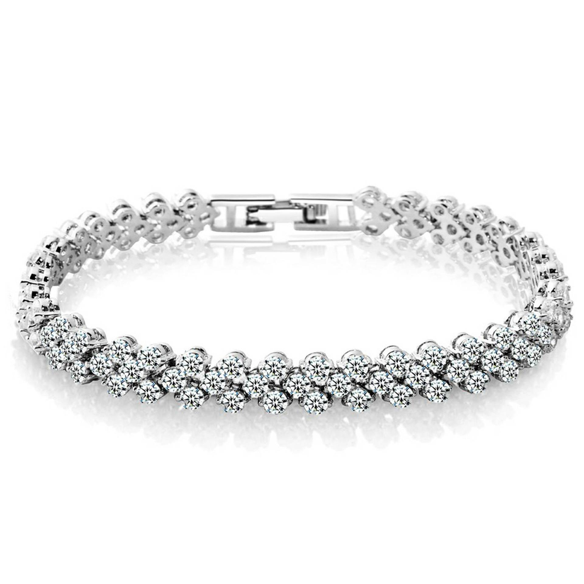 Fashion Women Silver Zircon Bracelet Bangle
