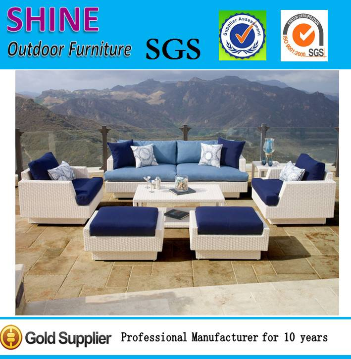Luxury 6-Piece Rattan/Wicker Outdoor Sofa Set CT201421