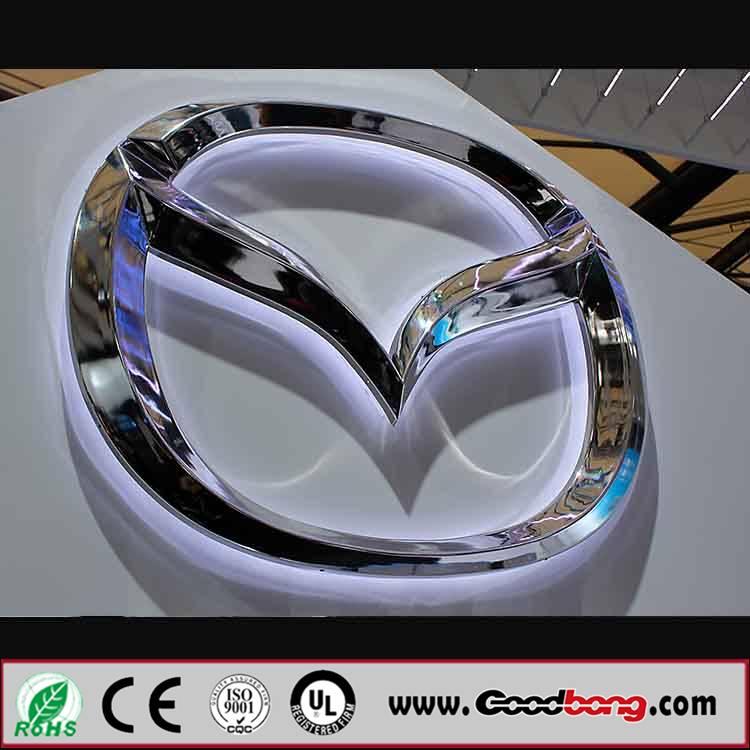 Chorme electroplated ultrathin vacuum car emblem ;outdoor standard sound car logo