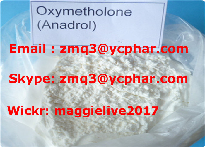Oxymetholone Anasterone Anabolic Muscle Building Steroids CAS 434-07-1 , UKAS Standard 99% purity