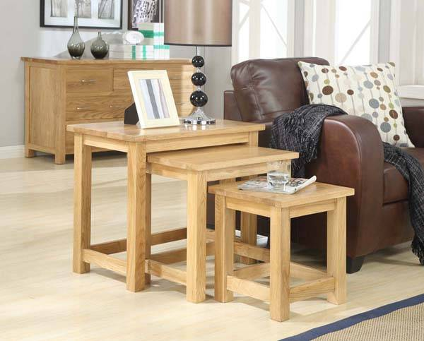 Solid Oak Nested Table