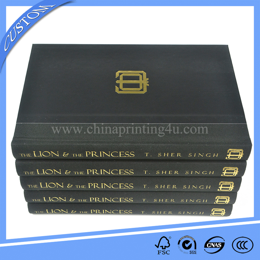 high quality hardcover book printing with cloth spine printers in china
