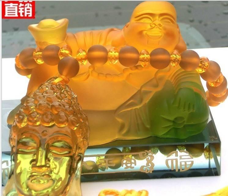 The car perfume Buddha perfume seat car interior ornaments glass ingot Buddha perfume bottle Taobao