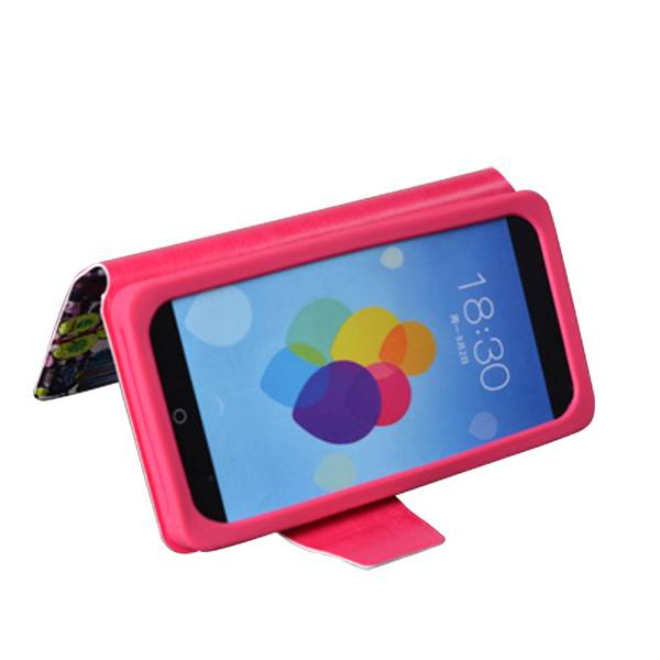 360 rotation durable pu leather mobile phone case