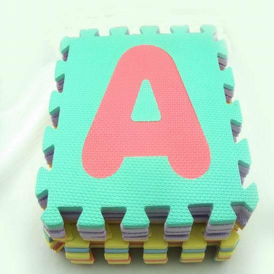 Eva alphabet puzzle mat for baby using