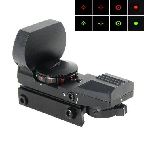PRO 1X22X33 Multi Reticle Electro Red & Green DOT Sight Rifle Scope