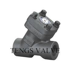 Forged y-strainer filter A105 N/F304 SW/NPT ends 800lbs-2500lbs
