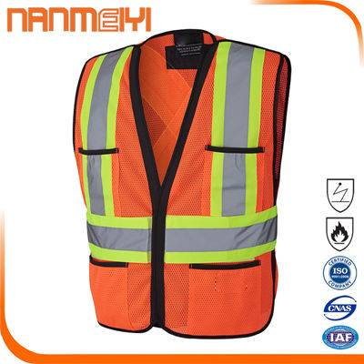Reflective safety high visibility vest with reflective tap