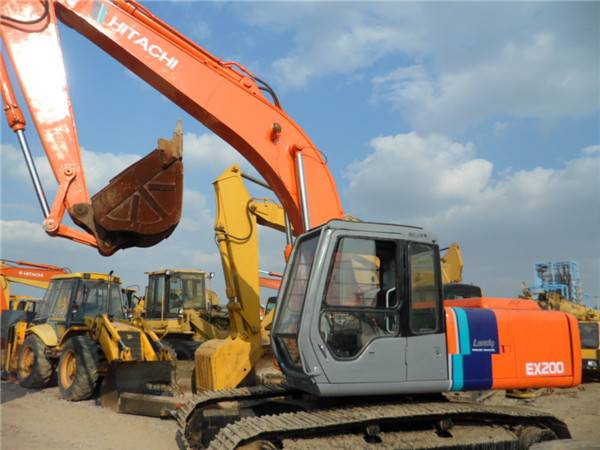 Used Hitachi EX200-3 crawer excavator