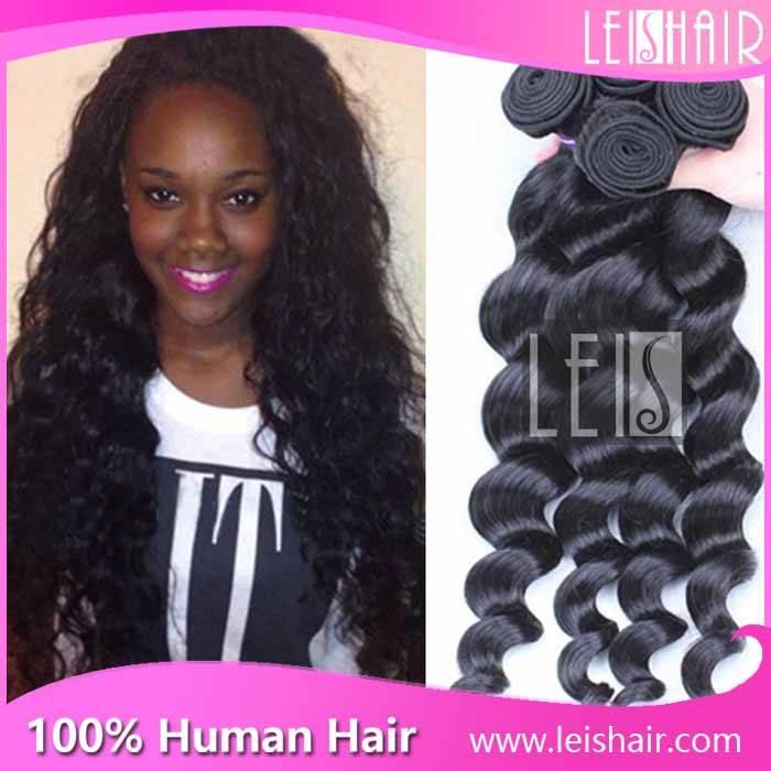 Loose wave 100% peruvian virgin human hair weaving