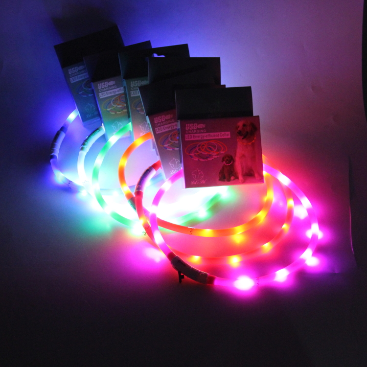 USB Rechargeable Dog/Cat LED Pet Collar