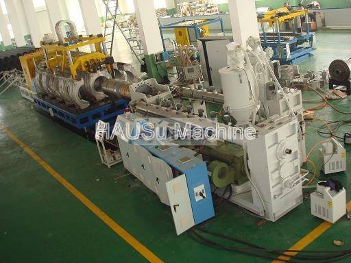Corrugated Pipe Machine_UPVC Double Wall Corrugated Pipe Production Line