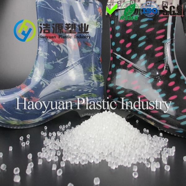 Soft transparent virgin PVC compound for rainboots