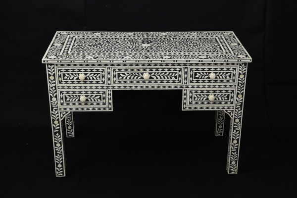 Bone Inlay 5 Drawer Console Table