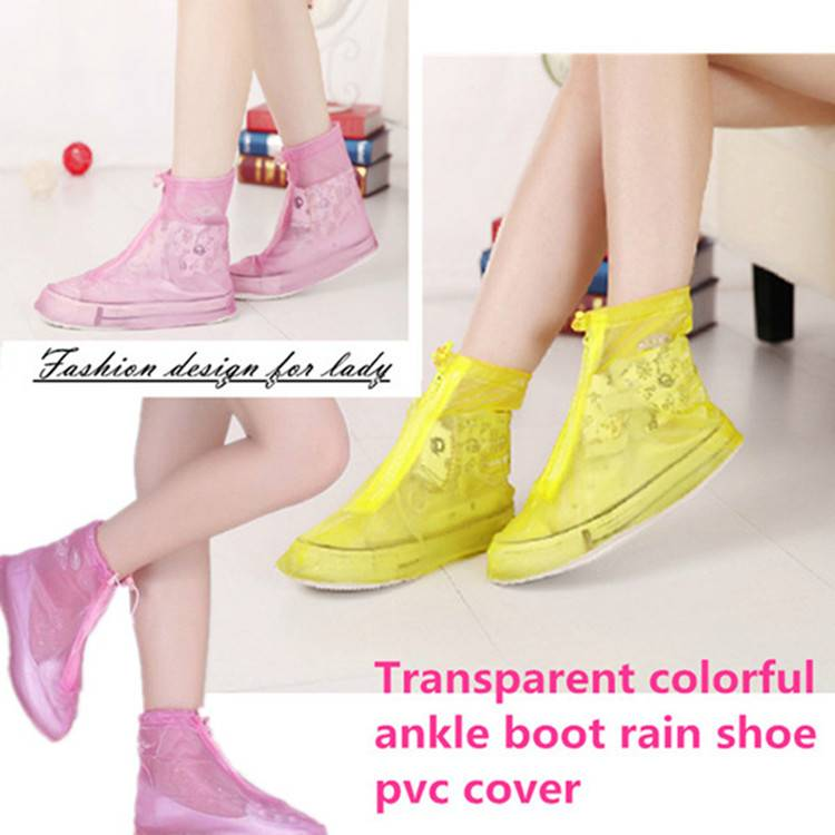 Ankle Rain Boot PVC Rain Shoe Cover Over Shoe