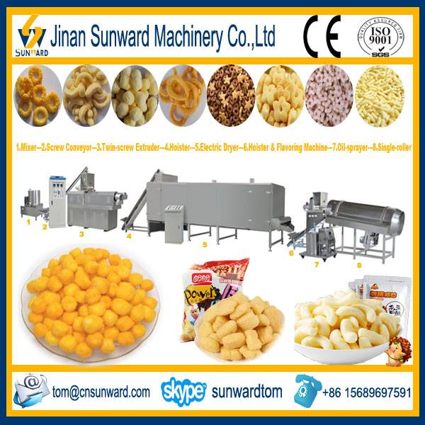 Inflating Snack Food Processing Line Machinery