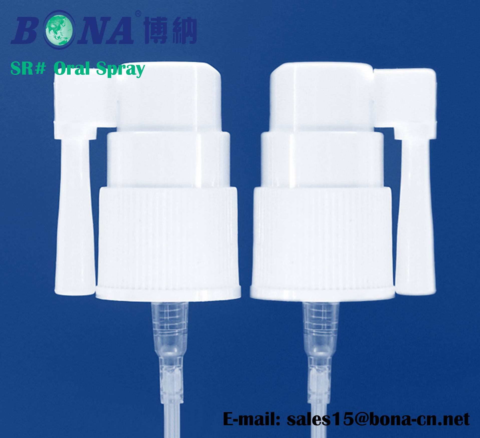 Short arm Oral Spray 18mm screw on pump