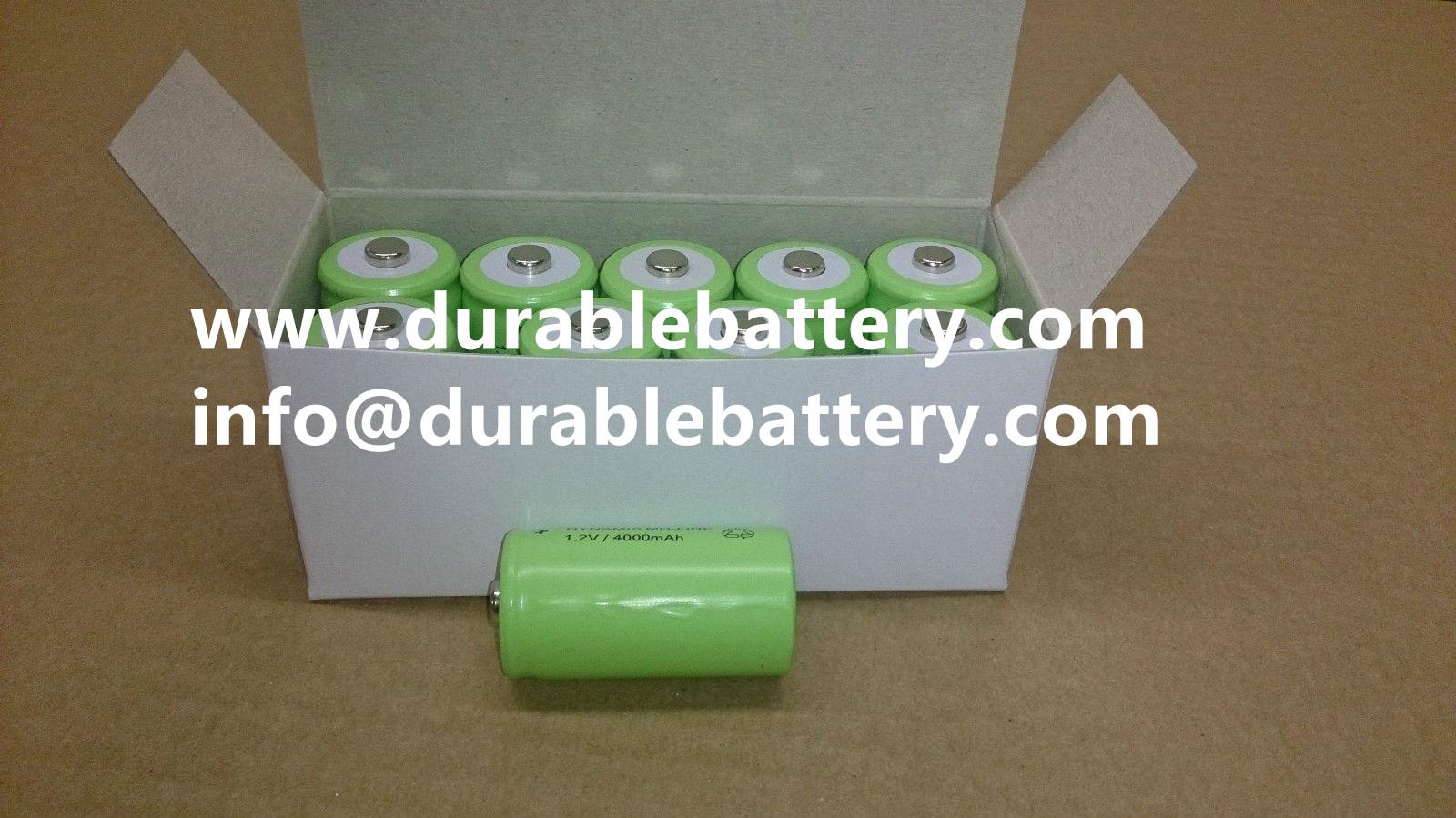 nimh 1.2v 4000mah c type rechargeable batteries for solar lamp