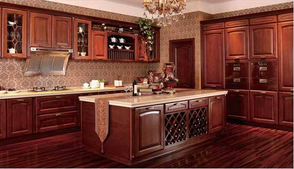 Louvre,China Best Supplier of Solid Wood Kitchen Cabinet
