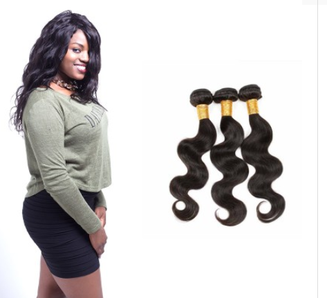 [8A]3 Bundles Indian Body Wave Hair Weave
