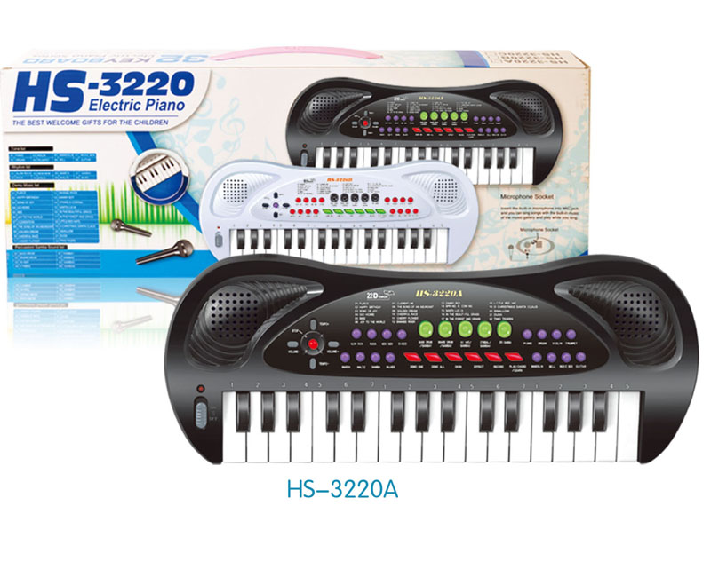 32-key black electric piano for children