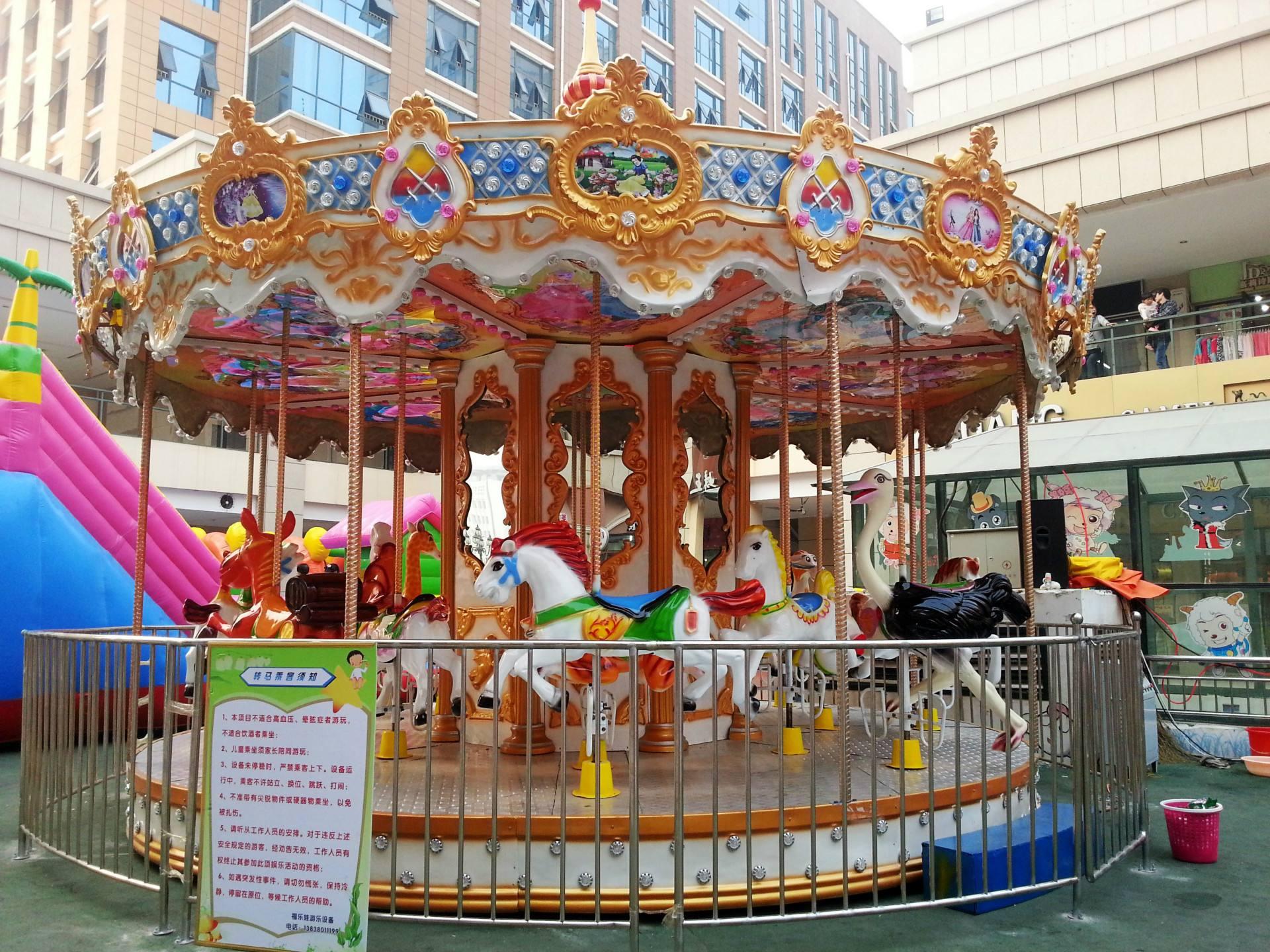 luxury amusement rides carousel horse for sale