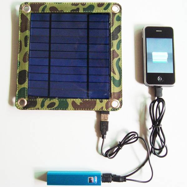 3watt portable solar panel charger kit CY-303 include 2600mAh power bank