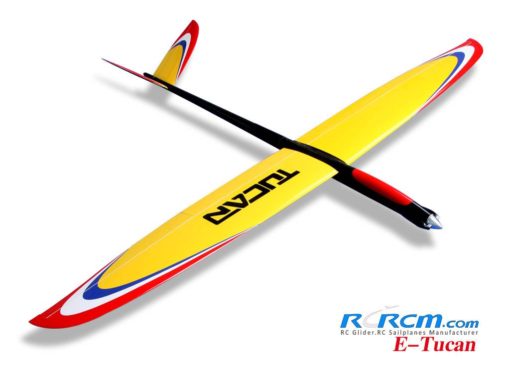 Tucan-2m rc composite glider of rcrcm
