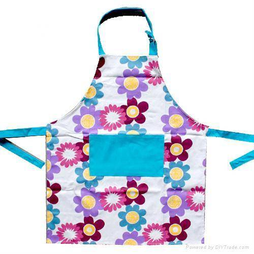 high quality polyester household women aprons , Cheap Kitchen Apron for promotion