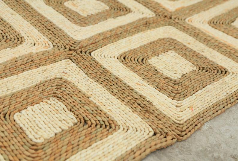 Wholesale Handmade Carpet Seagrass Decorative Carpets Rugs for Interior Decor Indoor Floor Carpet